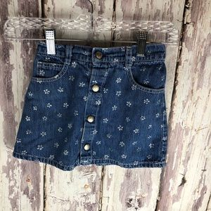 Girls Vintage Guess Jeans Skirt Button Up Size 6